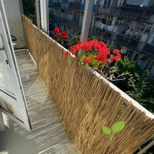 Rietmat balkonscherm