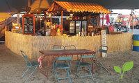 Rieten decoratiemat voor evenementen en festivals