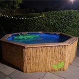 Zwembad met rietmat