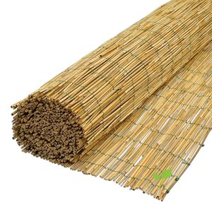 Rietmatten 120x600 van gepeld riet